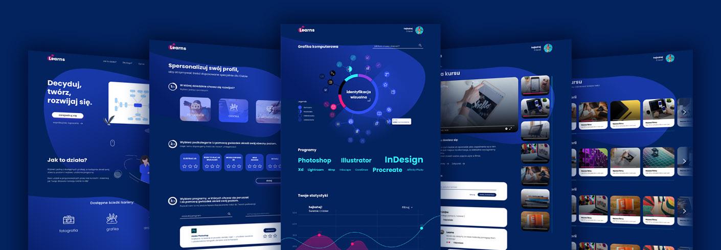 Projekt aplikacji webowej LEARNS